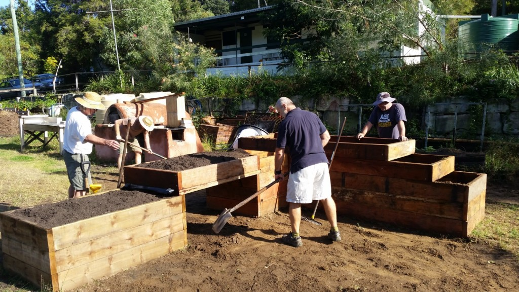 Leveling and modifying the ground levels